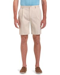 Jos. A. Bank - Traveler Collection Traditional Fit Pleated Front Twill Shorts - Big & Tall By - Lyst