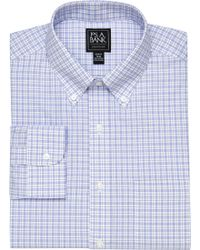 Jos. A. Bank - Traveler Collection Slim Fit Button-down Collar Plaid Dress Shirt - Lyst