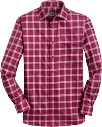 Jos. A. Bank - Traveller Collection Tailored Fit Spread Collar Plaid Sportshirt - Lyst