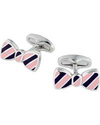 Jos. A. Bank - Stripe Bow Tie Cufflinks - Lyst