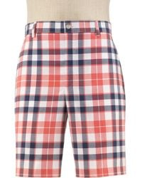Jos. A. Bank - Stays Cool Tailored Fit Plain Front Plaid Shorts Big And Tall Clearance By - Lyst