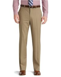 Jos. A. Bank - Traveler Collection Traditional Fit Flat Front Dress Pants - Big & Tall - Lyst