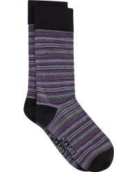 Jos. A. Bank - Stripe Socks - Lyst