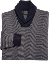 Jos. A. Bank - Executive Collection Cotton Herringbone Shawl Collar Sweater Clearance - Lyst