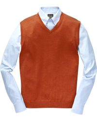 Jos. A. Bank - Traveler Collection Merino Wool Men's Sweater Vest - Big & Tall - Lyst
