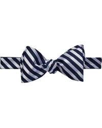 Jos. A. Bank - Stripe Self-tie Double Bow Tie Clearance - Lyst