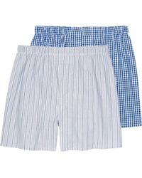 Jos. A. Bank - Stripe & Gingham Woven Boxers, 2-pack - Big & Tall - Lyst