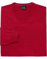 Jos. A. Bank - Traveler Collection Merino V Neck Men's Sweater - Big & Tall - Lyst