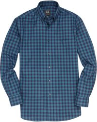 Jos. A. Bank - Traveller Collection Tailored Fit Button-down Collar Check Sportshirt - Lyst