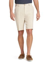 Jos. A. Bank - Reserve Collection Traditional Fit Linen Flat Front Shorts - Lyst
