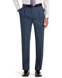 Jos. A. Bank - Executive Collection Traditional Fit Pleated Front Twill Dress Pants Clearance - Lyst