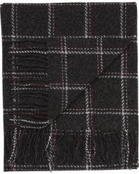 Jos. A. Bank - Windowpane Plaid Wool & Cashmere Scarf Clearance - Lyst