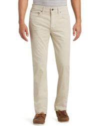 Jos. A. Bank - Joseph Abboud Classic Fit Stone Casual Pants Clearance - Lyst