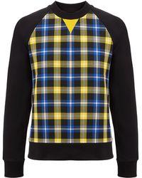 JOSEPH - Jersey + Check Sweatshirt - Lyst