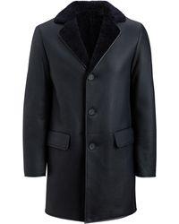 JOSEPH - William Leather Sheepskin Jacket - Lyst
