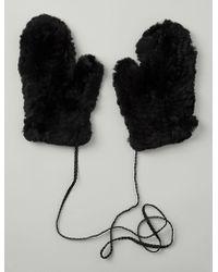 JOSEPH - Rex Fur Gloves - Lyst
