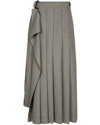 JOSEPH - Fleet Mini Dogtooth Suiting Skirt - Lyst