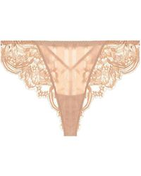 82a5bd79eed7 Cosabella Trenta Low-rise Thong in Natural - Lyst