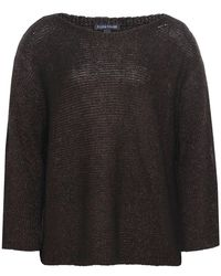 Eileen Fisher - Knitted Linen Cold Shoulder Jumper - Lyst