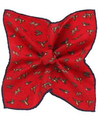 Ascot Accessories - Patterned Wool Pocket Square - Lyst