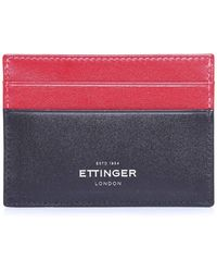 Ettinger | Calf Leather Sterling Flat Card Case | Lyst