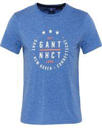 GANT - Jersey Cotton Star Logo T-shirt - Lyst