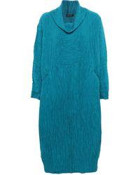 Grizas - Silk Cowl Neck Dress - Lyst