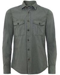 BOSS - Regular Fit Rebus Shirt - Lyst