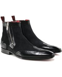 Jeffery West - Leather & Suede Scarface Zip Boots - Lyst