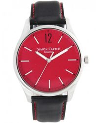 Simon Carter - Red Face Analogue Watch Wt2003r - Lyst