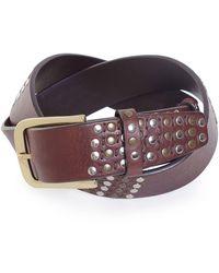 Elliot Rhodes - Leather Studded Belt - Lyst