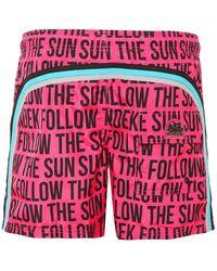 Sundek - Mid-length Slogan Board Shorts - Lyst