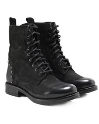 Inuovo - Studded Leather Jovian Boots - Lyst