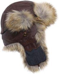 Stetson - Leather Aviator Hat - Lyst