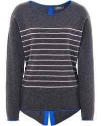 Cocoa Cashmere - Striped Shimmering Cashmere Star Jumper - Lyst