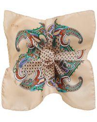 Eton of Sweden - Patterned Silk Pocket Square - Lyst
