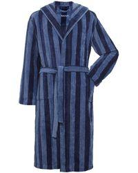 GANT - Hooded Stripe Bathrobe - Lyst