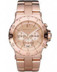 MICHAEL Michael Kors - Rose Gold Chronograph Michael Kors Watch Mk5314 - Lyst