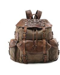 Campomaggi - Coated Canvas Embellished Backpack - Lyst