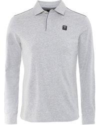 Hackett - Jersey Long Sleeve Polo Shirt - Lyst