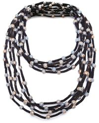 Jianhui   Five Strand Bead Cord Necklace   Lyst