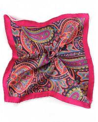 Ascot Accessories - Silk Paisley Handkerchief - Lyst