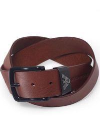 Armani - Leather Tongue Belt - Lyst