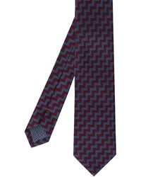 Eton of Sweden - Patterned Silk Tie - Lyst