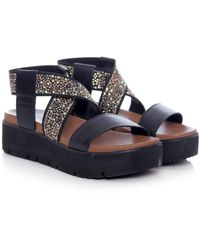 Inuovo - Studded Wedge Sandals - Lyst