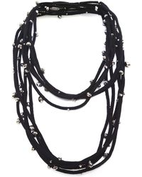 Jianhui - Crystal Five Strand Necklace - Lyst
