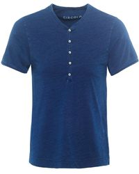 Circolo 1901 - Jersey Cotton Henley T-shirt - Lyst