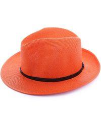 Travaux En Cours - Straw Fedora Hat - Lyst