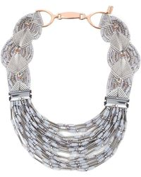 Butterfly | Multi Strand Collar Necklace | Lyst