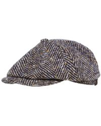 Stetson - Hatteras Herringbone Check Cap - Lyst